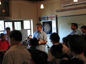 Zahid addressing questions from the media at the National Press Club