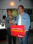 Rocky with Air Asia's Aziz Bakar