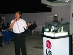 Jeff Ooi plugging for sponsor, LG